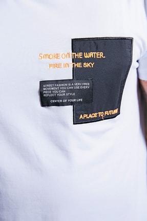 Sateen Men Erkek Beyaz Yazı Işlemeli T-Shirt 2