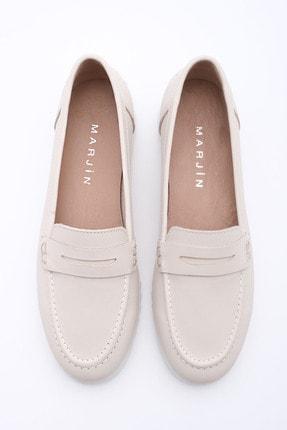 Marjin Kadın Bej Hakiki Deri Loafer Ayakkabı Vonlez 0