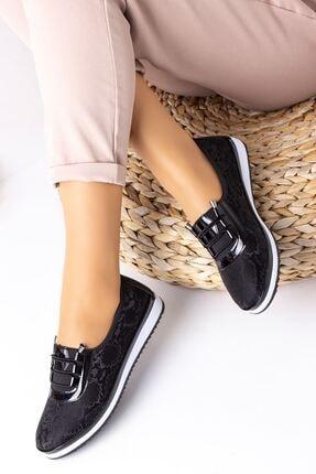 Lal Shoes & Bags Kadın Siyah Areca Parlak Ayakkabı 0
