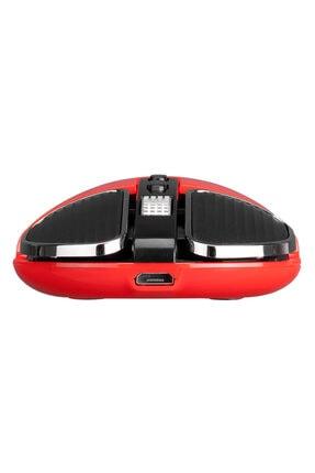 Everest Sm-619 Metalik Kırmızı 1600dpi Süper Sessiz Şarjlı Premium Kablosuz Mouse 4
