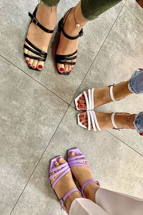 Lal Shoes & Bags Kadın Beyaz Biyeli Klasik Topuklu Ayakkabı 2