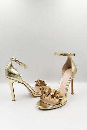 Altın Topuklu Ayakkabı AYK491