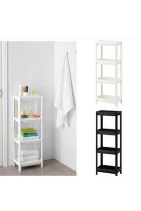 KARİN EV Ikea Vesken 3 Bölmeli Banyo Raf Ünitesi Beyaz Banyo Mutfak Düzenleyici 1