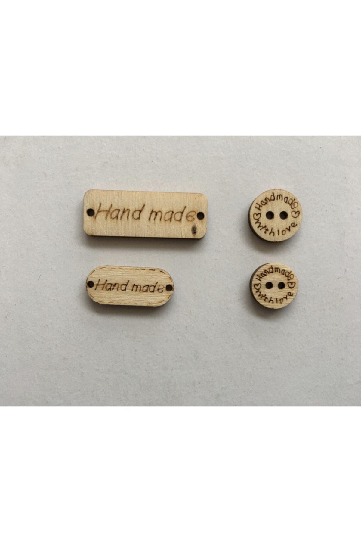 Ahşap Hand Made Düğme