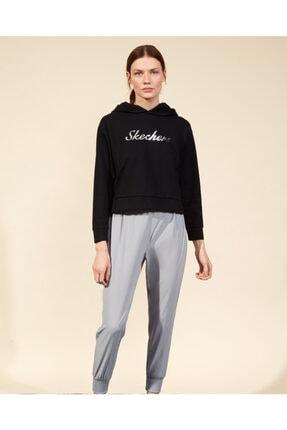 2XI-Lock W Hoodie Sweatshirt Kadın Siyah Sweatshirt resmi