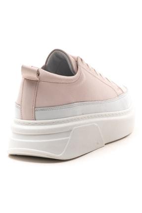 GRADA Pudra Rengi Kalın Tabanlı Hakiki Deri  Sneaker Ayakkabı 4