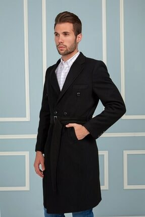 Dewberry Plt8382 Erkek Palto-siyah 4
