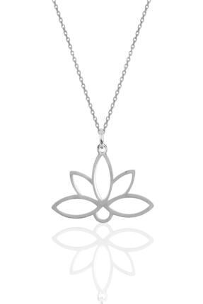 Söğütlü Silver Gümüş Sonsuz Yaşamın Simgesi Lotus Çiçeği Kolye Sgtl10085rodaj 0