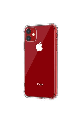 coverest Apple Iphone 11 6.1'' Ince Şeffaf Airbag Anti Şok Silikon Kılıf 1