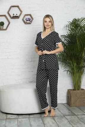 MyBen Kadın Siyah Pijama Takımı 70004 1