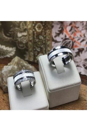 Gümüş Alyans Yüzük gümüş alyans puntalı