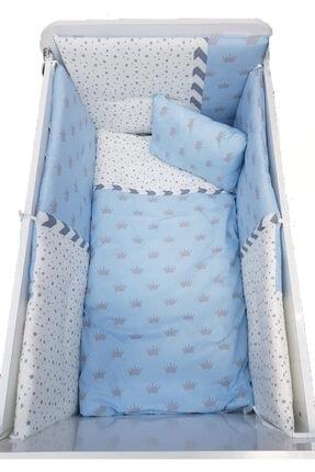 Mavi Desenli Bebek Uyku Seti 60x100 - Mavi - Uyku Seti