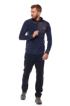 Climbolic Erkek  Ortaçağ Mavisi Yarım Fermuarlı Polar Sweatshirt 1