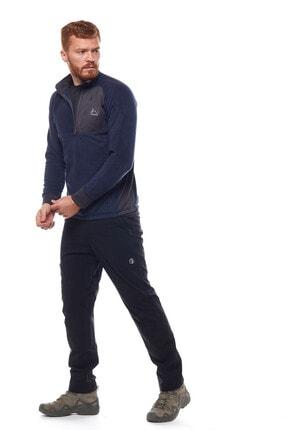 Climbolic Erkek  Ortaçağ Mavisi Yarım Fermuarlı Polar Sweatshirt 2