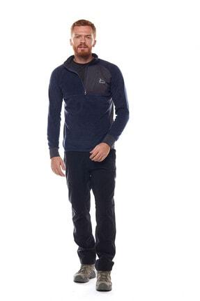 Climbolic Erkek  Ortaçağ Mavisi Yarım Fermuarlı Polar Sweatshirt 3
