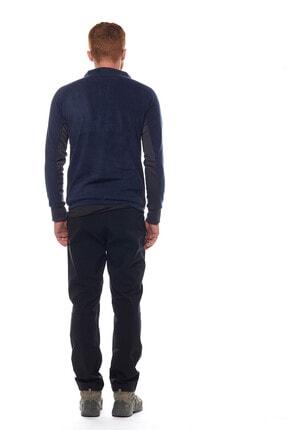 Climbolic Erkek  Ortaçağ Mavisi Yarım Fermuarlı Polar Sweatshirt 4