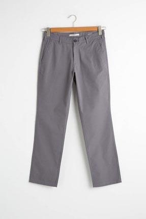 LC Waikiki Erkek Koyu Gri Chino Pantolon S11268Z8 0