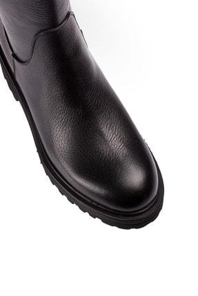Deery Hakiki Deri Siyah Kadın Çizme 01807ZSYHE01 2