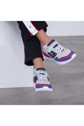 100498203 Walden A.mavi-a.pembe Cırtlı Yaldız Detaylı Çocuk Spor Ayakkabı resmi