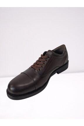 Erkek Kahverengi Kundura Ayakkabı 483 erkek deri kundura ayakkabı