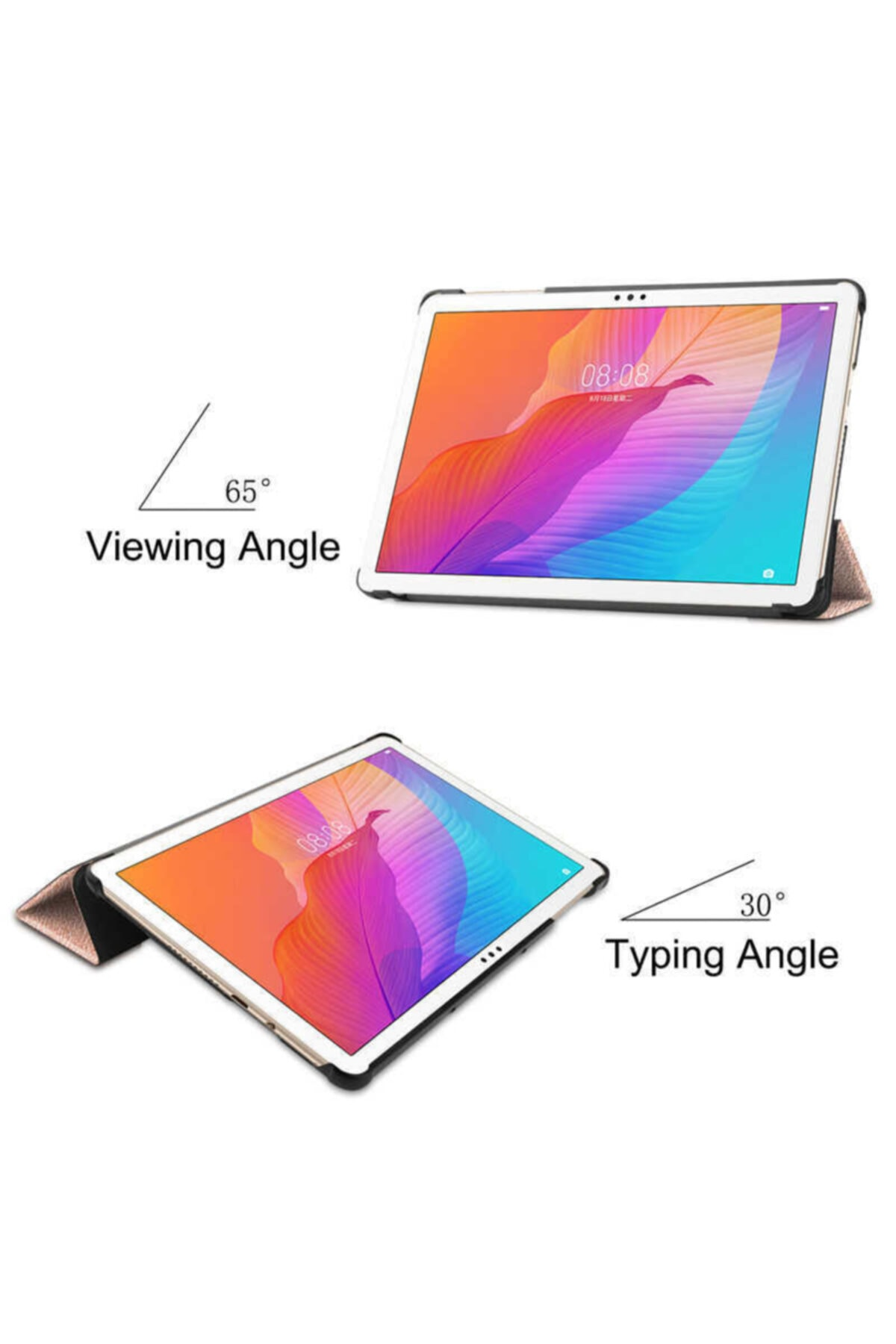 Huawei Matepad T10 T10s Kılıf Standlı Uyku Modlu Akıllı Wowlett Tablet Kılıfı Ve Nano Ekran Koruyucu