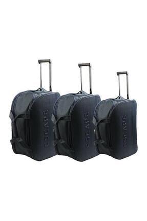Siyah Unisex Valiz Seti Valiz & Bavul HBV000006GDOL