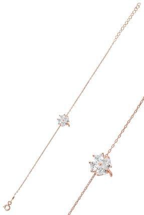 Söğütlü Silver Gümüş Zirkon Taşlı Yonca Modeli Bileklik Sgtl10090beyaz 0