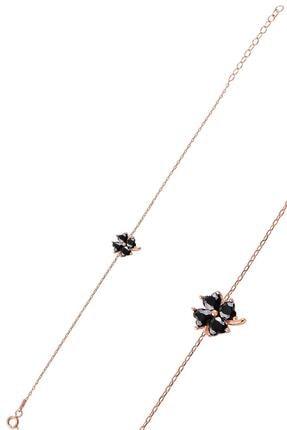 Söğütlü Silver Gümüş Siyah Taş Yonca Modeli Bileklik Sgtl10090syh 0