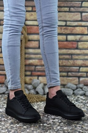 Riccon 3D Baskılı Siyah Siyah Erkek Sneaker 2