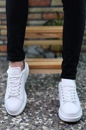 Riccon Beyaz Beyaz Erkek Sneaker 0012360 1