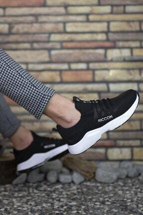 Riccon Unisex Siyah Beyaz1 Cilt Sneaker 0012072 3