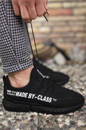Riccon Siyah Beyaz Erkek Cilt Sneaker 0012SANTO 3