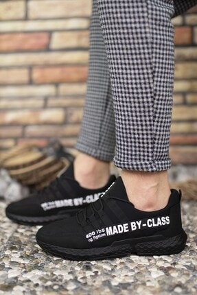 Riccon Siyah Beyaz Erkek Cilt Sneaker 0012SANTO 4