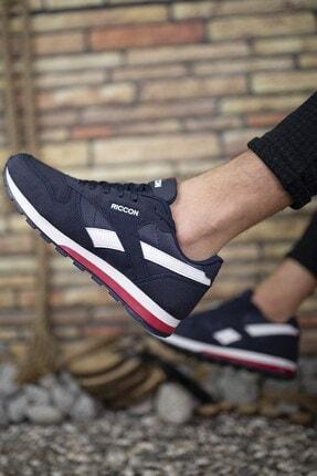 Riccon Lacivert Unisex Cilt Sneaker 0012853 1