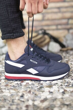 Riccon Lacivert Unisex Cilt Sneaker 0012853 3