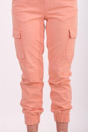 AYSL BUTİK Kadın Somon Beli ve Paçası Lastikli Kargo Pantolon 2