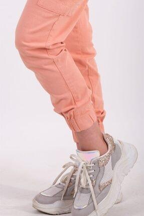 AYSL BUTİK Kadın Somon Beli ve Paçası Lastikli Kargo Pantolon 3