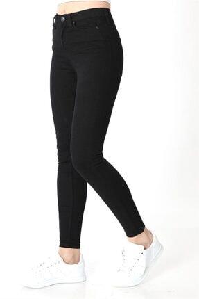 ZİNCiRMODA Kadın Siyah Yüksek Bel Dar Paça Kot Pantolon 2