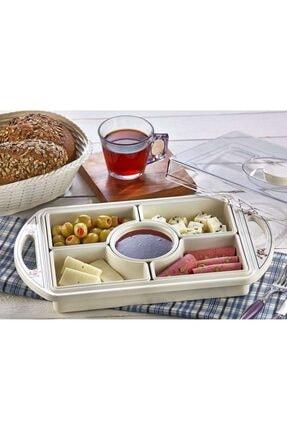 Özmet 5 Bölmeli Kapaklı Kahvaltılık Ve Çerezlik Seti 0