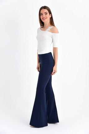 Jument Kadın Lacivert Yüksek Bel Önü Arka Dikişli İspanyol Pantolon 1