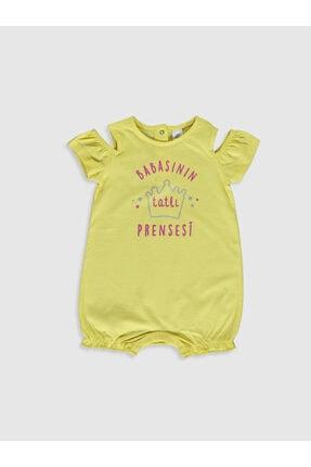 LC Waikiki Kız Bebek Sarı P6W Tulum 0