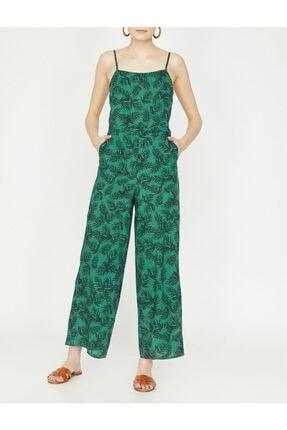 Koton Kadın Yeşil Desenli Tulum 9YAK48659PW 1
