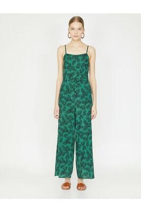 Koton Kadın Yeşil Desenli Tulum 9YAK48659PW 2
