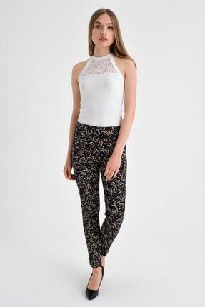 Jument Kadın Fuşya Çiçek Pantolon 40002 0