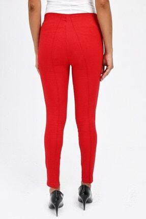 Jument Kadın Kırmızı Ön Arka Dikişli Dar Paça Tayt Pantolon 40004 3