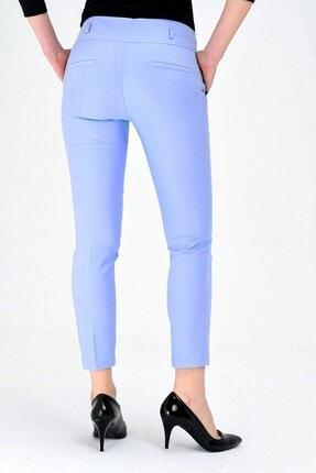 Jument Normal Bel Cepli Bilek Boy Ofis Likralı Kumaş Pantolona.mavi 4
