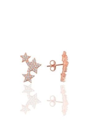 Söğütlü Silver Kadın Gümüş Zirkon Taşlı Yıldızlar Küpesi SGTL9467 0