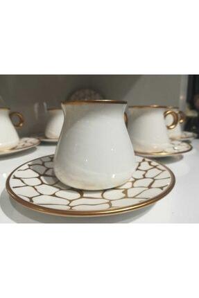 Glazze Larisa Beyaz 6 Kişilik 12 Parça Çay Takımı Glz101 2