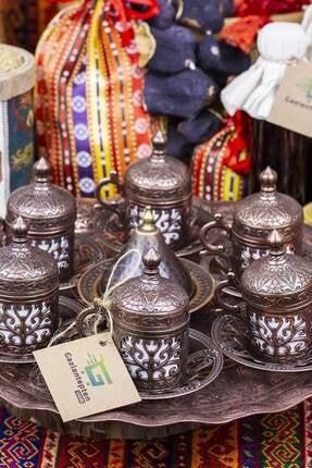 Gaziantepten Bakır Döküm Kahve Fincanı Takımı Seti 0