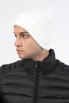 Mossta Katlamalı Erkek Trend Beyaz Bere 1